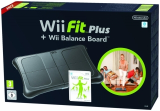 Wii Fit Plus With Board černý (Wii)