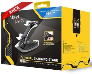 Hrypraha - Steelplay Dual Controller Charging Station (PS4)