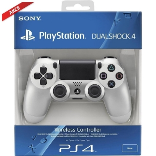 Sony DualShock 4 V2 Wireless Controller - Silver (PS4):