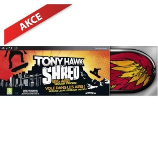 Tony Hawk Shred Board Bundle (PS3) použité