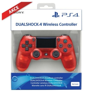 Sony Dualshock 4 V2 Translucent Red Crystal