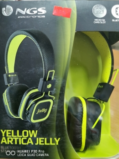 Hrypraha -yellow Artica Jelly Bluetooth Stereo headphone