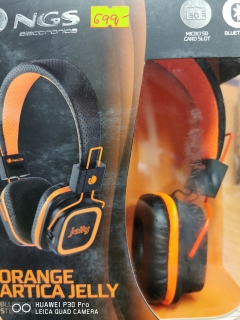 Hrypraha - Orange Artica Jelly Bluetooth Stereo headphone