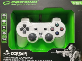 Esperanza Corsair Gamepad EGG106W(PC/PS2/PS3)